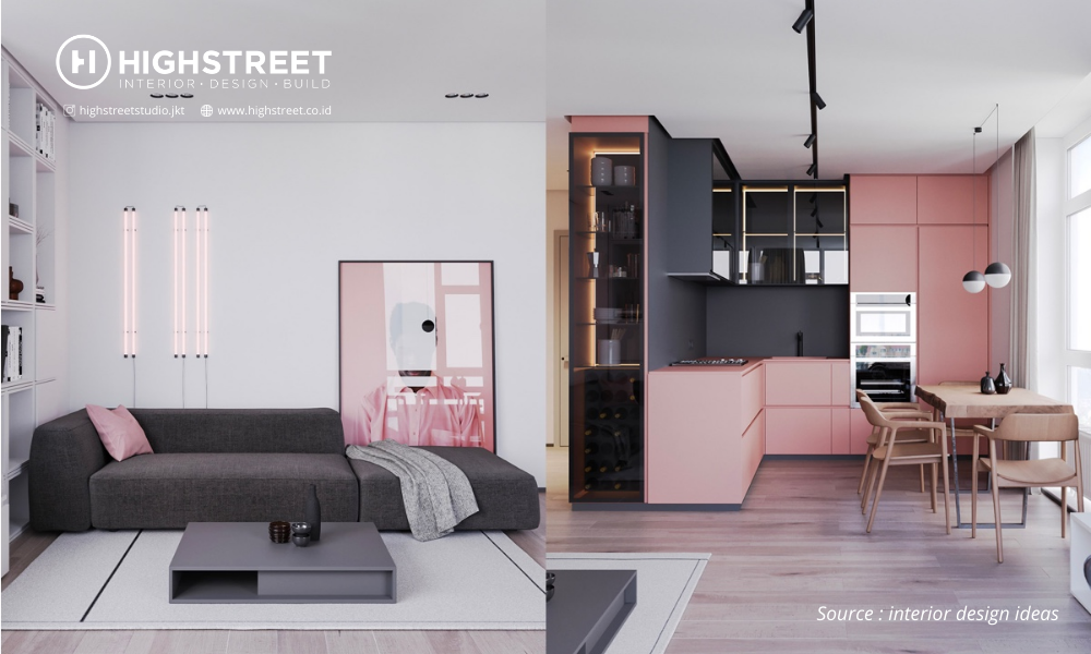 Unique and Beautiful, Consultant Interior Designing This Apartment Completely Pink